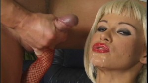 Blonde with two cocks