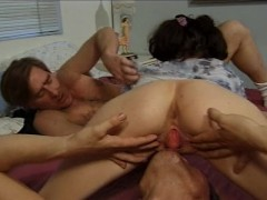 Super hot Latina DP sex