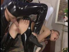 Picture Latex fetish couple