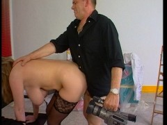 Busty German woman films a sex scene