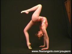 Ballerina Anja showing poses (clip)