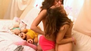 Horny lesbo teens kissing