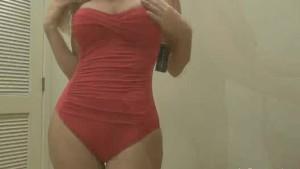 Ana Manini Bikini fitting