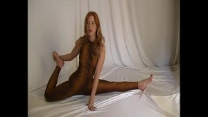 Redhead flexible Rachel in spa