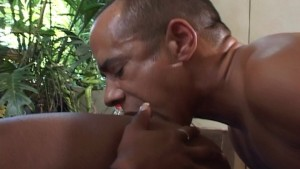 Sexy ebony girl fucked on trampoline