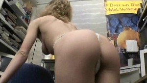 Mature blonde paid to put on a