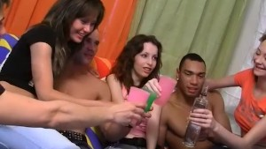 Crazy student orgy with anal penetration