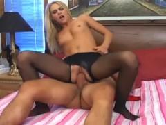 Sophia Lynn crotchless pantyhose sex
