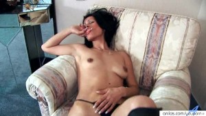 Lingerie striptease labia spread