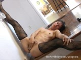 Carmen shows off her sexy mature bush