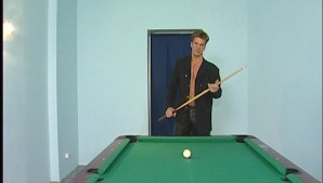 Kinky with a pool cue