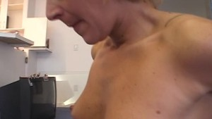 Pierced cock sucked and stroke
