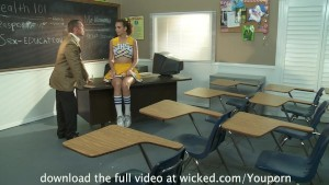 Petite Cheerleader Gets FUCKED in Detention