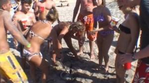 Crazy Spring Break Girls on the Beach