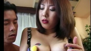 Horny Asian girl in outfit dou