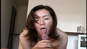 Asian wife comes in and wakes him up