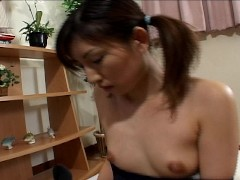 Flexible Asian stretches before sex