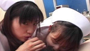 Double Asian nurses POV blowjo
