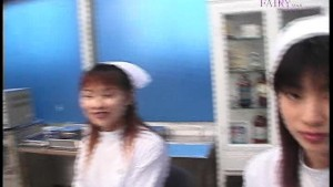 Double Asian nurses POV blowjob