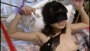Tied up and blindfolded