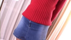Clothed Japenese girl gives head