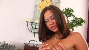 Sexy exotic babe Gioia using a dildo