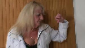 A guy bangs blonde granny