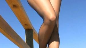 Elegant MILF clothed pantyhose
