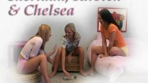 Three gorgeous Czech girls play spin the bottle