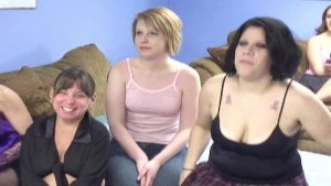 Lesbian amateurs in an orgy