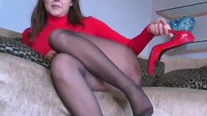 Pantyhose tease from Erica Cam