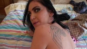 Hot big-tit brunette demands c