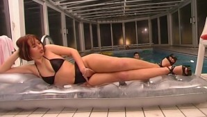 Hot sex by the pool