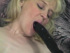 Pale horny blonde plays with dildos - Acheron