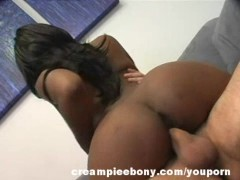 Roxy Rae Cute and Sexy Ebony Creampied