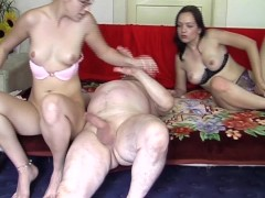 Guy gets his ass fucked during threesome with two chicks - Acheron