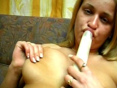 Pretty blonde amateur masturbates - Sascha Production