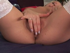 Anne keeps her heels on to masturbate - CzechSuperStars