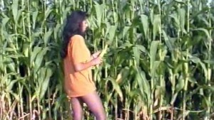 Skinny girl plays with some corn - Inferno Productions