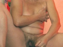 Horny old German lady masturbates - Inferno Productions