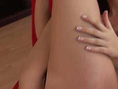 Sally plays with her young little pussy - CzechSuperStars