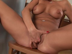 Blonde bombshell Stacy's got milk - CzechSuperStars