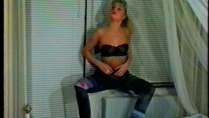 Vintage scene of girl using dildo on herself - Inferno Productions