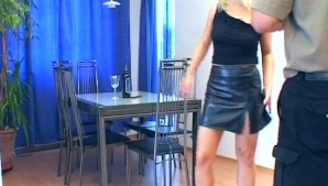 Pretty blonde humps on the floor - Sascha Production