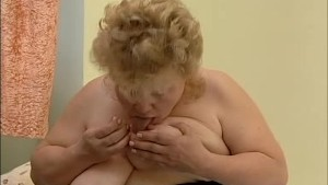 slutty granny likes to eat food drenched in her pussy juice