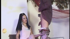 Small tit girl works a big dick - DBM Video