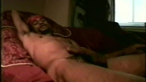 Black thug amateur jerks his monster meat