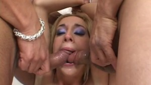 gagging on two cocks