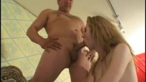 Blonde Tranny Wants More Cum - Gentlemens Video