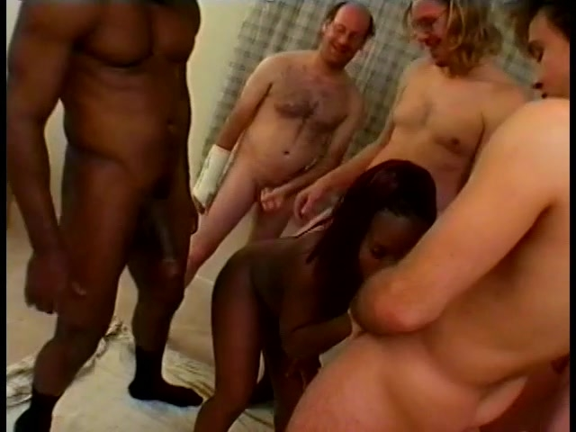 BBW ebony Girl Gets Slammed by Some Dudes - Gentlemens Video
